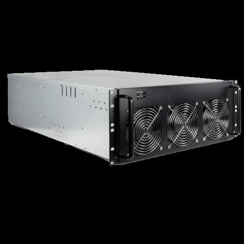 Mining server case. 4U rack geschikt voor 6 tot 8 GPU's